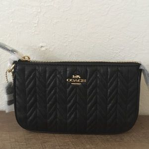 COACH Large Wristlet with Quilting